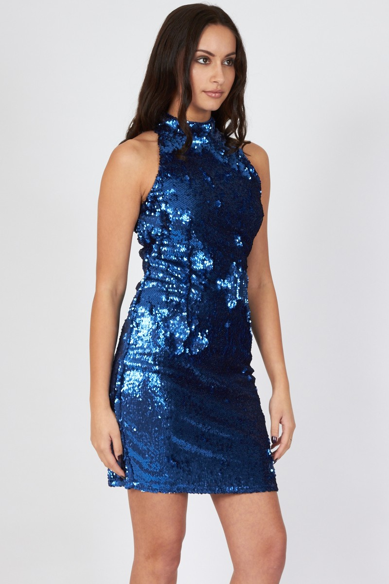 Tfnc Paris High Neck Sequin Dress Tfnc Party Dresses