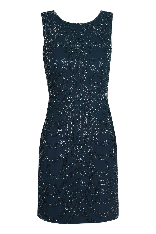 lace beads brittany navy embellished dress party dresses. Black Bedroom Furniture Sets. Home Design Ideas