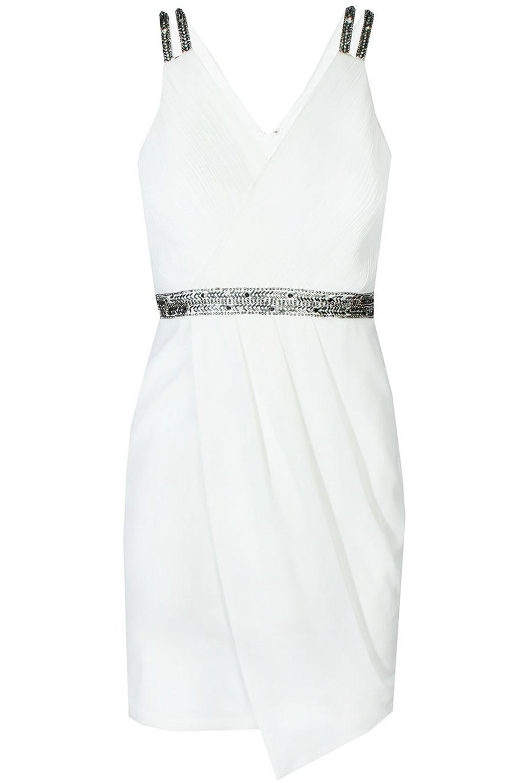 adcd3a4c95a TFNC Layla White Embellished Dress