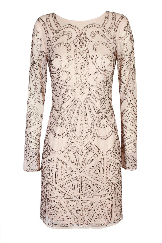 lace beads brooklyn pink embellished dress party dresses. Black Bedroom Furniture Sets. Home Design Ideas