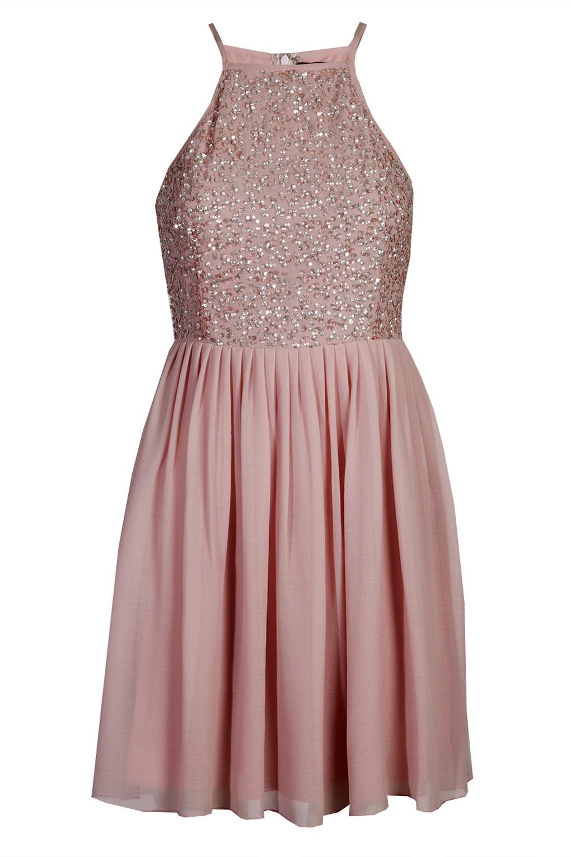 lace beads sprinkle pink dress party dresses. Black Bedroom Furniture Sets. Home Design Ideas