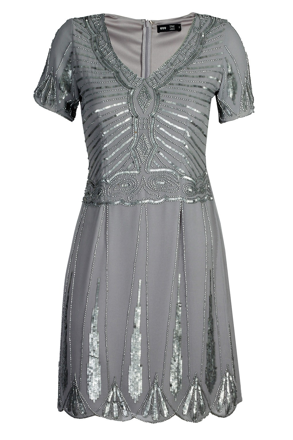 Lace Amp Beads Stacey Grey Embellished Dress Party Dresses