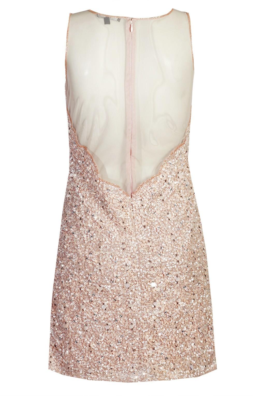 lace beads picasso pink embellished dress party dresses. Black Bedroom Furniture Sets. Home Design Ideas