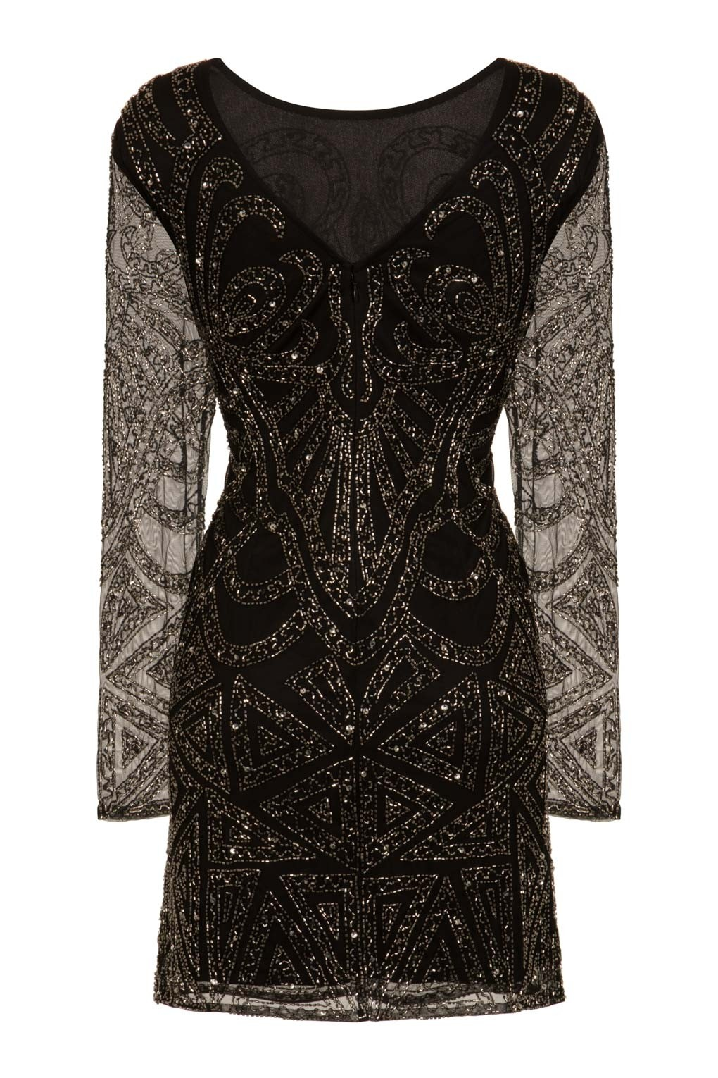 Lace Amp Beads Brooklyn Black Embellished Dress Party Dresses