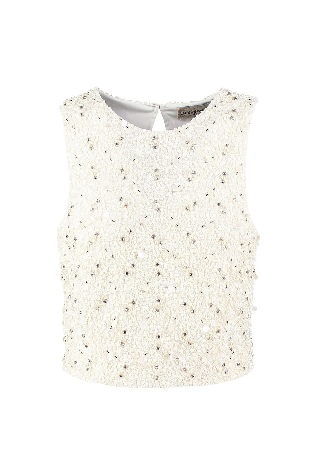 The Top 10 Fashion Trends Of 2012: LACE&BEADS PICASSO CREAM SEQUIN TOP
