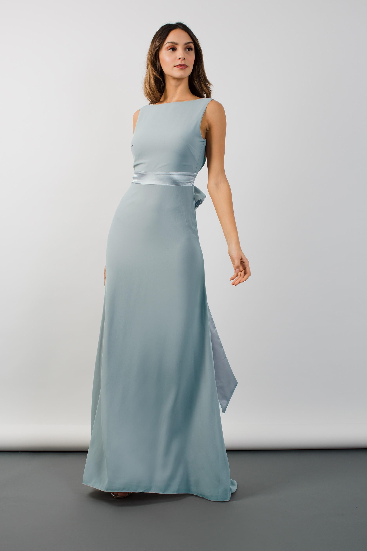 TFNC HALANNAH GREY BLUE MAXI DRESS | TFNC PARTY DRESSES
