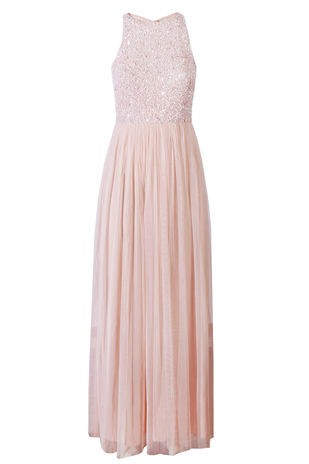 Lace Amp Beads Picasso Pink Embellished Maxi Dress Party