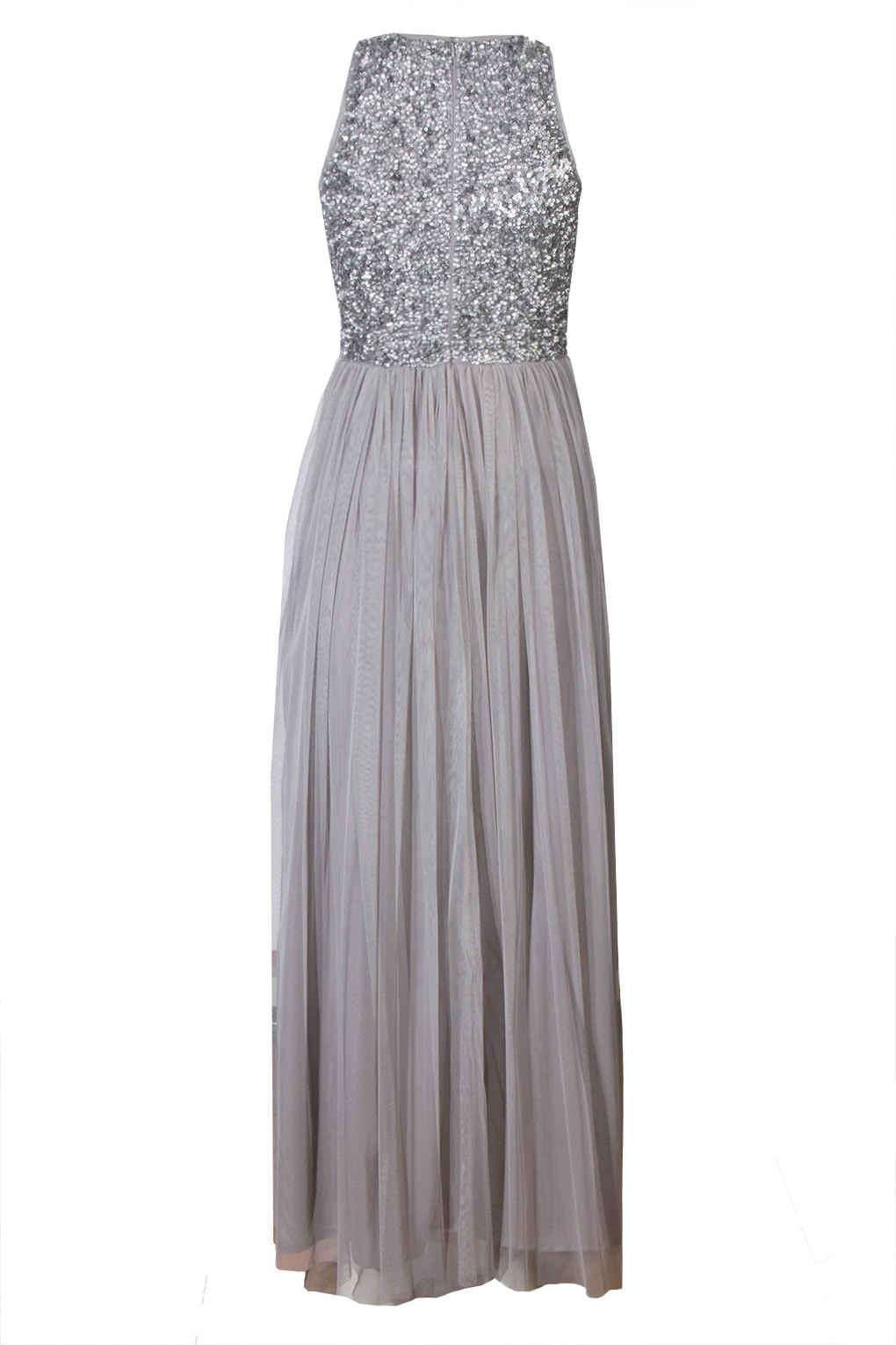 Lace Amp Beads Picasso Grey Embellished Maxi Dress Party