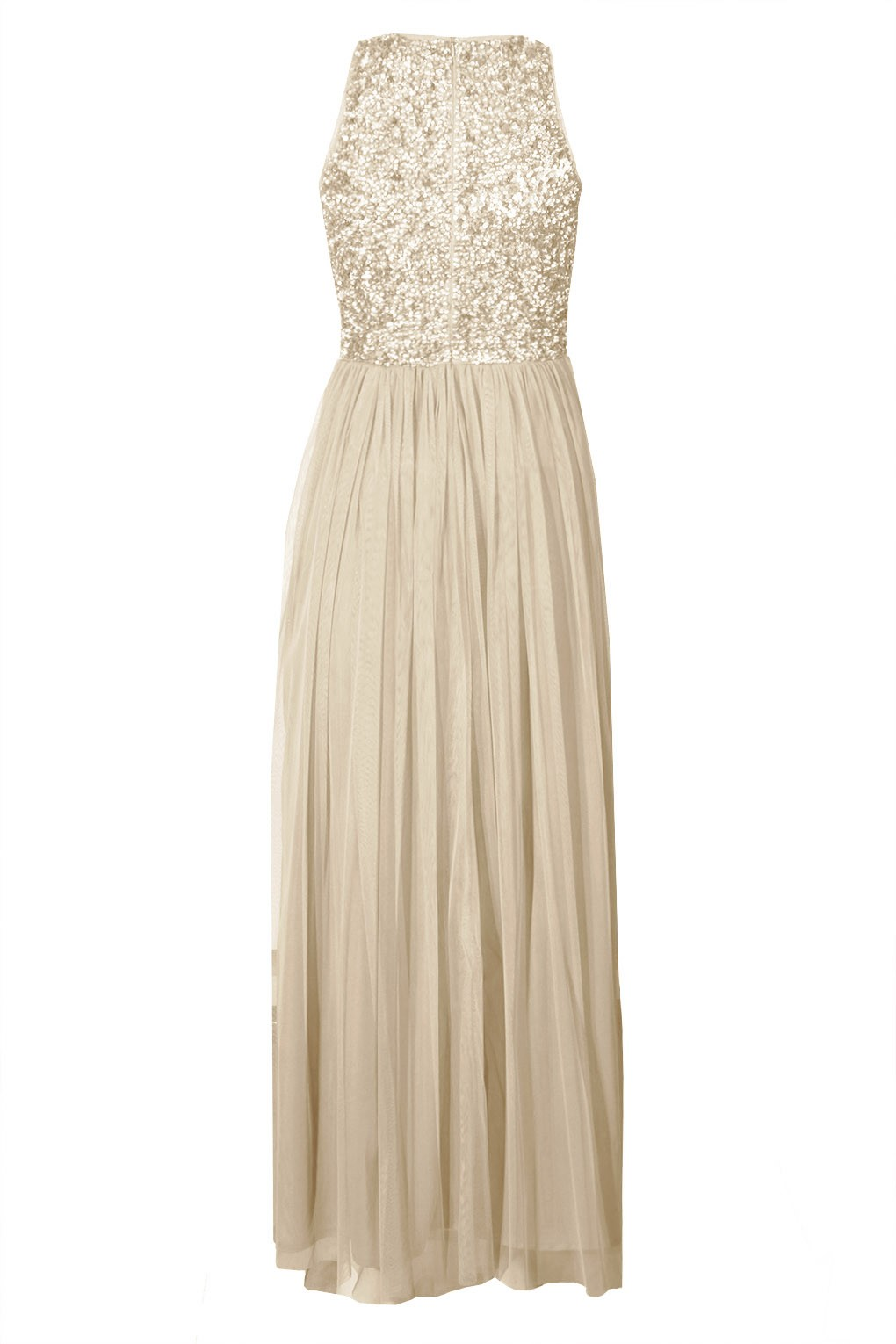 Lace Amp Beads Picasso Cream Embellished Maxi Dress Party