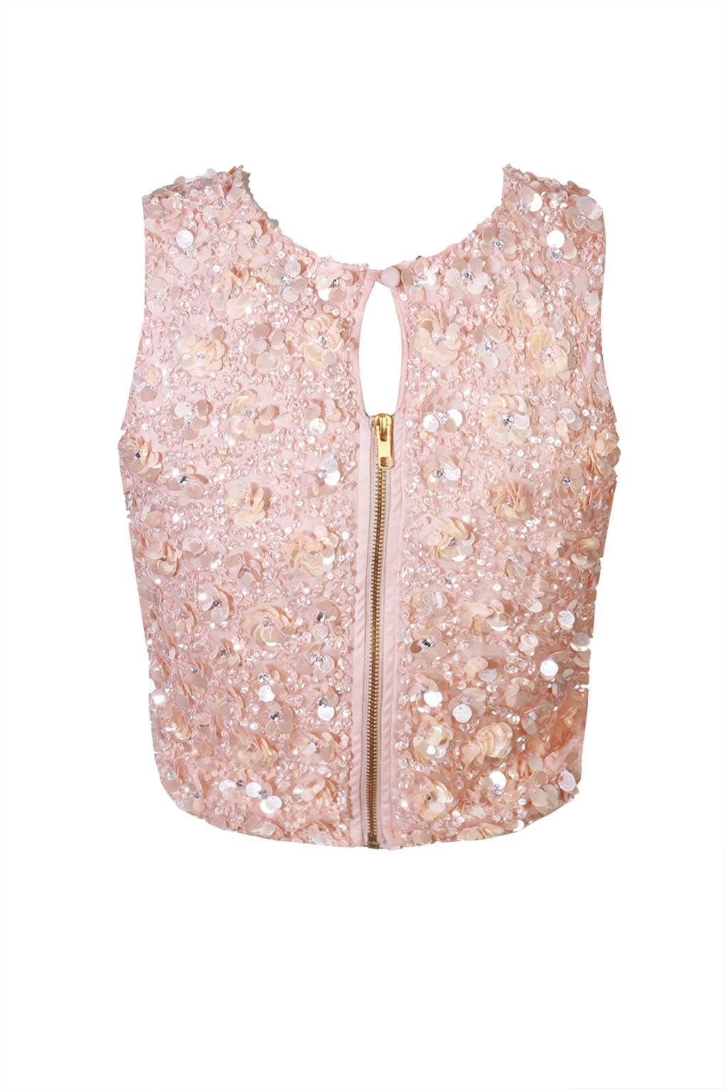 LACE&BEADS HAZEL PINK SEQUIN TOP | LACE&BEADS TOPS