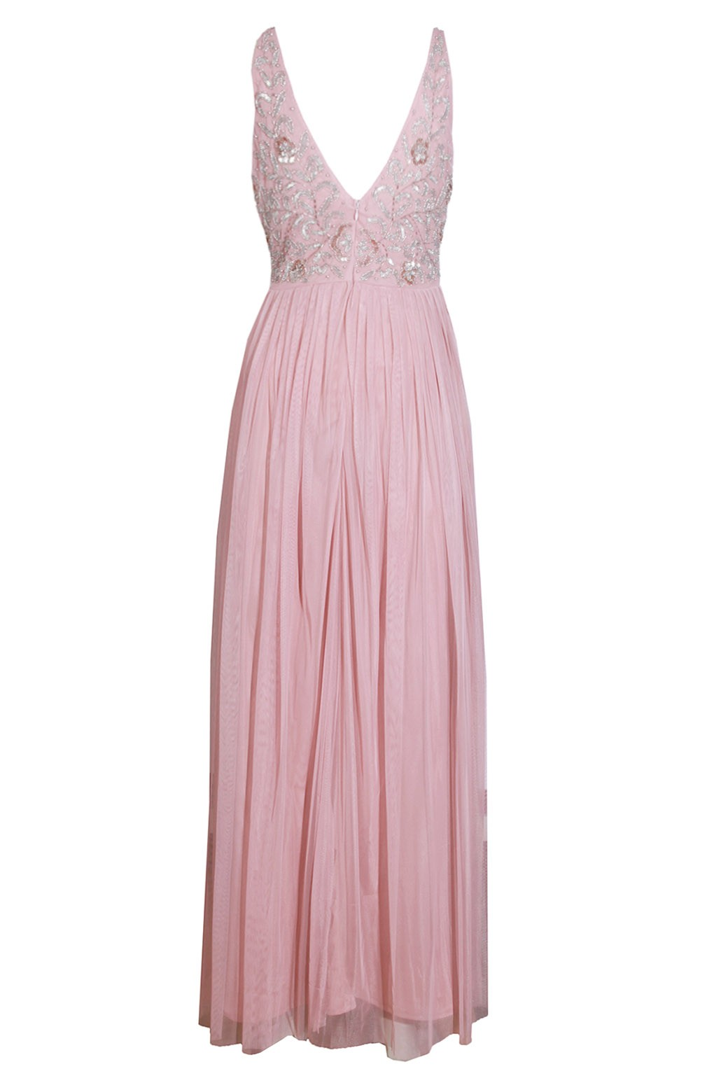 Lace Amp Beads Johanna Pink Embellished Maxi Dress Party