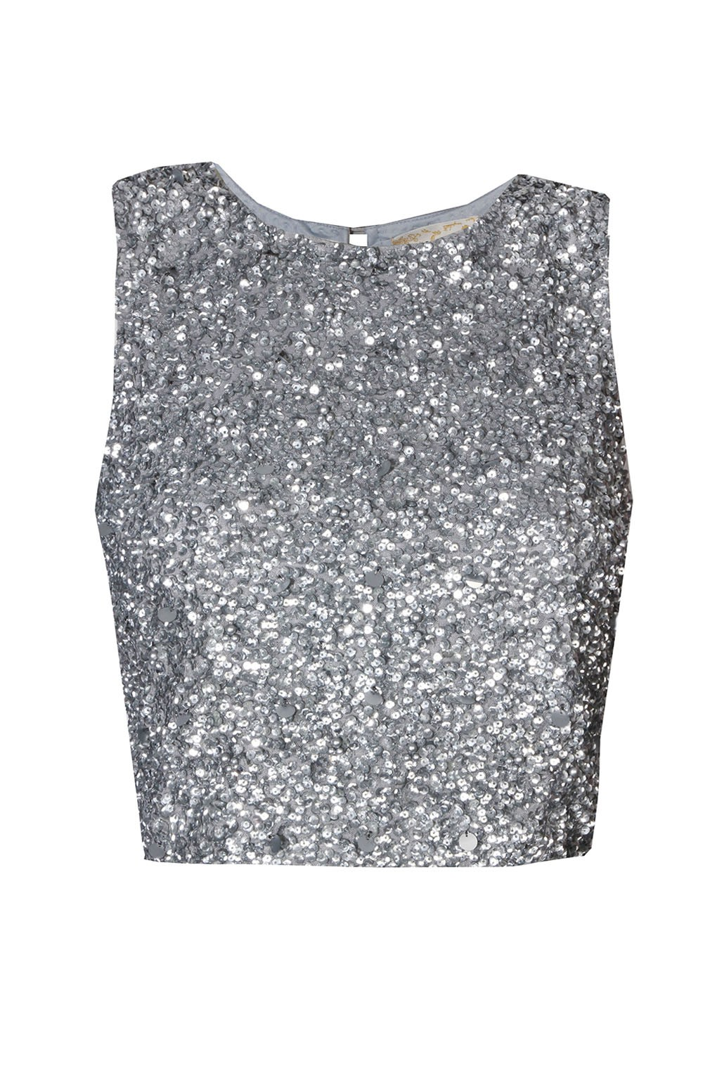 LACE&BEADS PICASSO SILVER SEQUIN TOP | LACE&BEADS TOPS