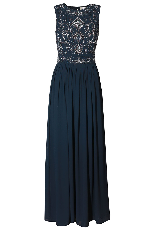Lace Amp Beads Paula Navy Maxi Dress Party Dresses