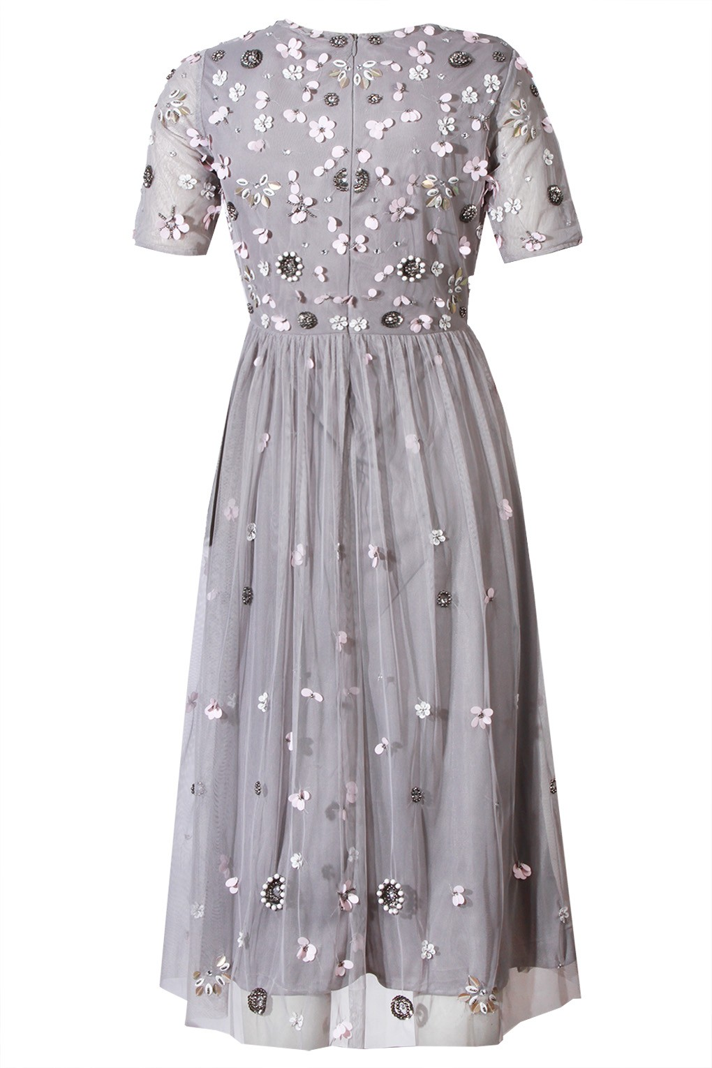 Lace Amp Beads Baby Grey Dress Party Dresses