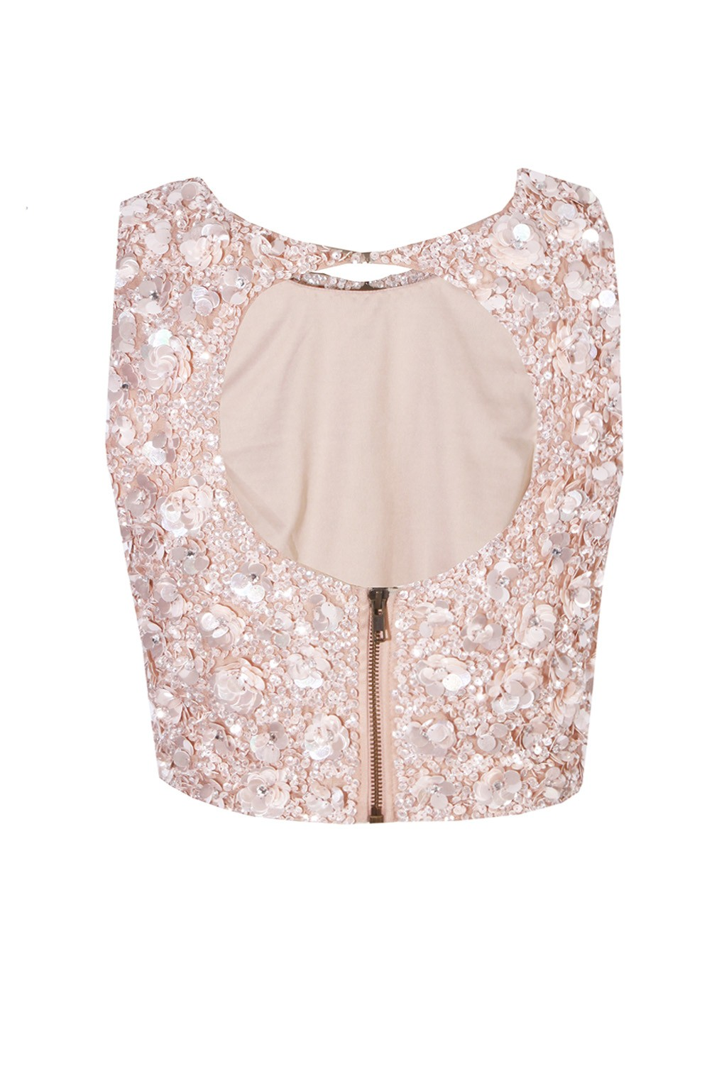 Lace Amp Beads Hazel Cut Out Pink Sequin Top Lace Amp Beads Tops