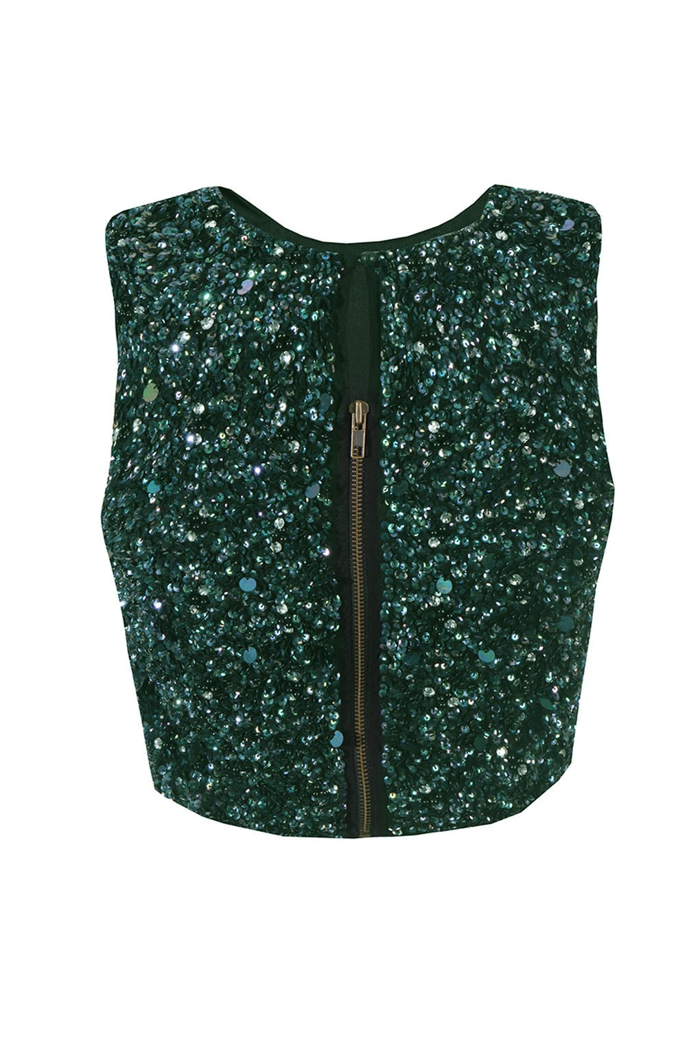 Lace Amp Beads Picasso Green Sequin Top Lace Amp Beads Tops