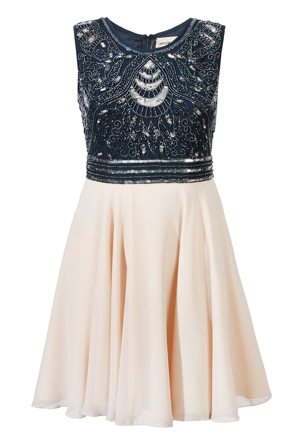 Lace Amp Beads Miami Navy Dress Party Dresses