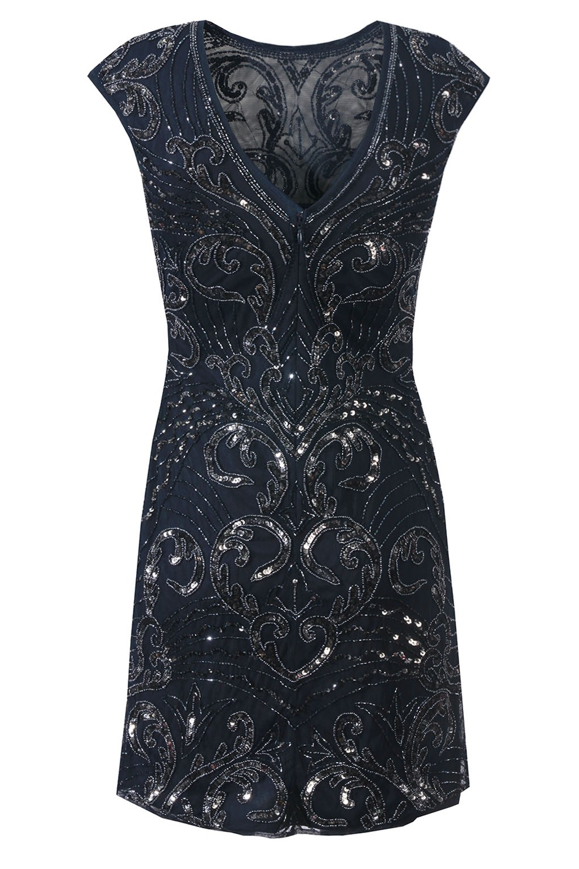 lace beads austin navy embellished dress party dresses. Black Bedroom Furniture Sets. Home Design Ideas