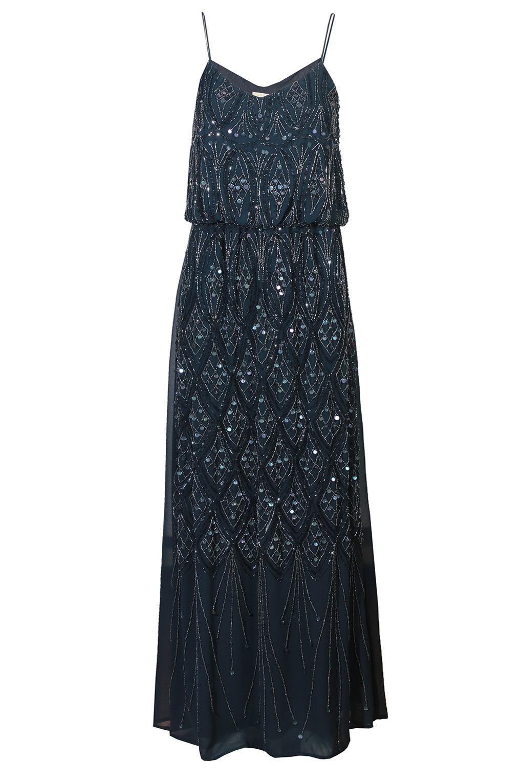 lace beads kelt navy embellished maxi dress party dresses. Black Bedroom Furniture Sets. Home Design Ideas