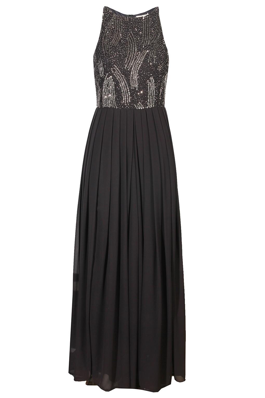 Lace Amp Beads Trudi Dark Grey Maxi Dress Party Dresses