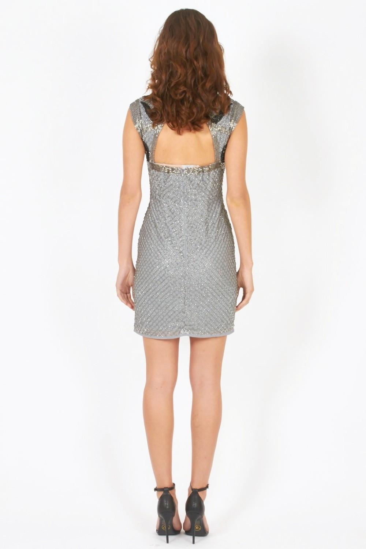 lace malta grey embellished dress dresses
