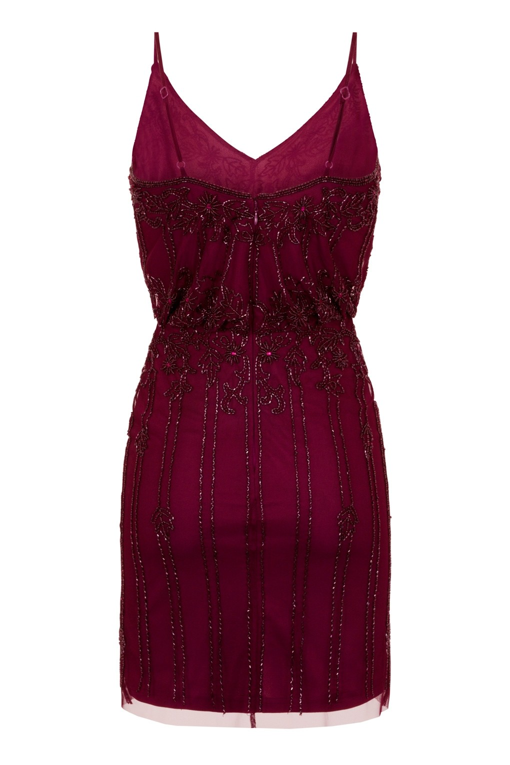 Lace Amp Beads Keeva Burgundy Mini Dress Lace Amp Beads Party Dress