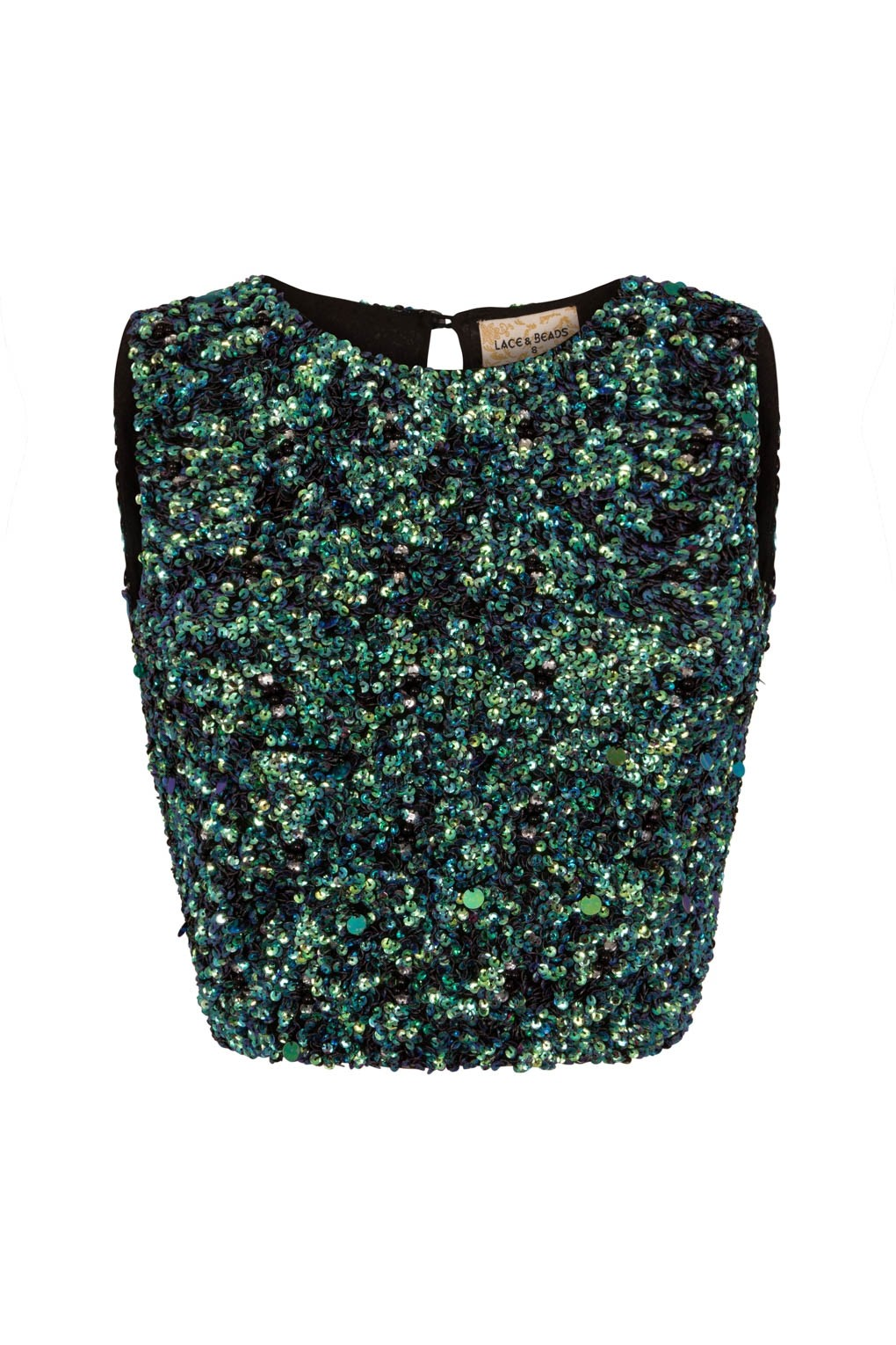lace beads picasso mermaid green sequin top lace beads tops. Black Bedroom Furniture Sets. Home Design Ideas