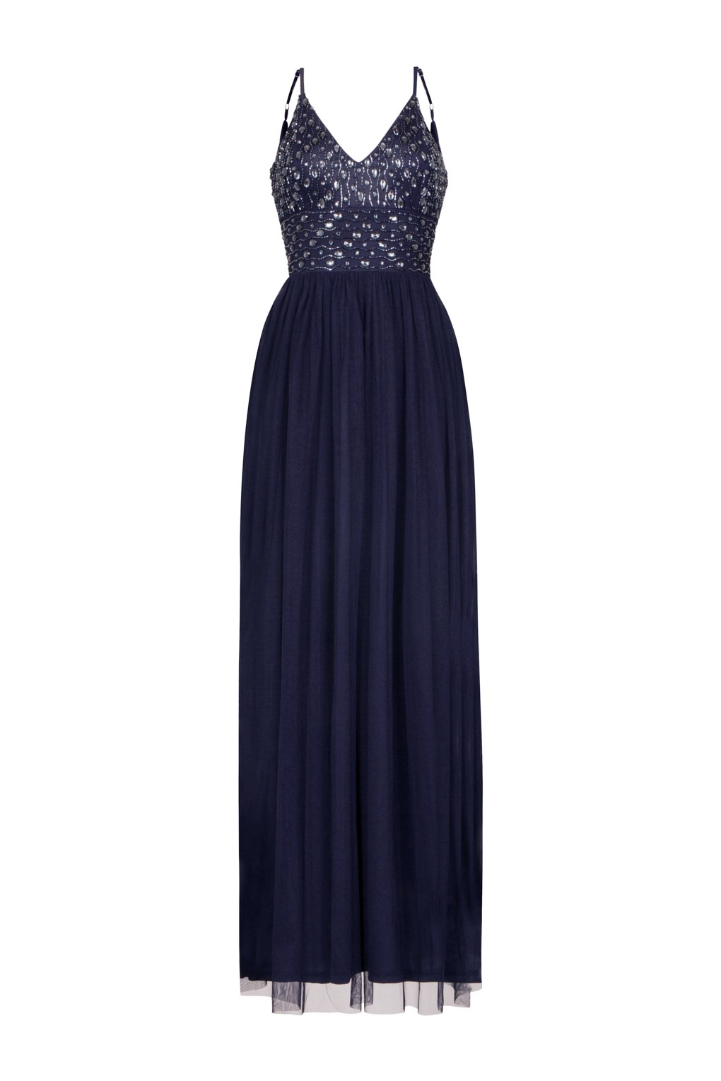 5d074a03f31 LACE   BEADS MAEVE NAVY EMBELLISHED MAXI DRESS