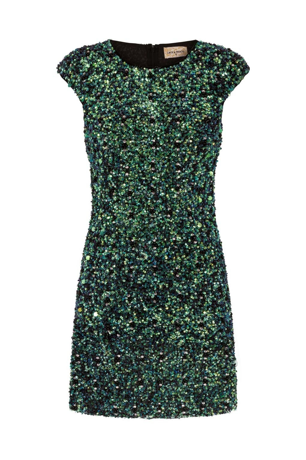 lace beads spica green sequin dress lace beads party dress. Black Bedroom Furniture Sets. Home Design Ideas