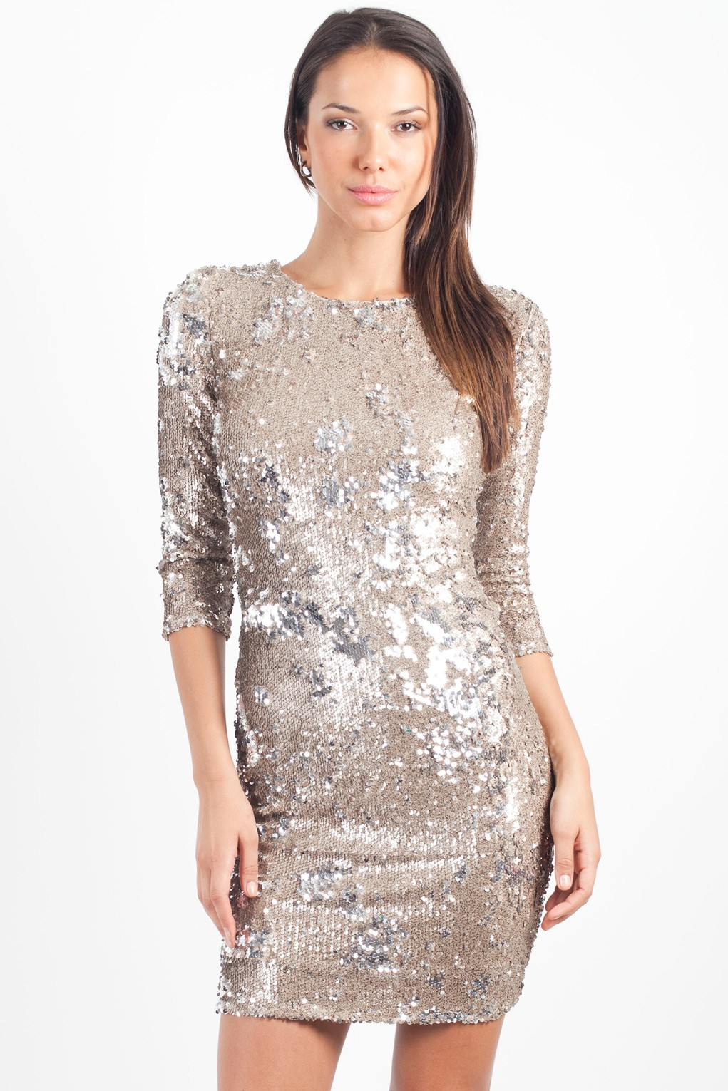 TFNC PARIS TARNISHED TWO-TONE SEQUIN DRESS  TFNC PARTY DRESSES