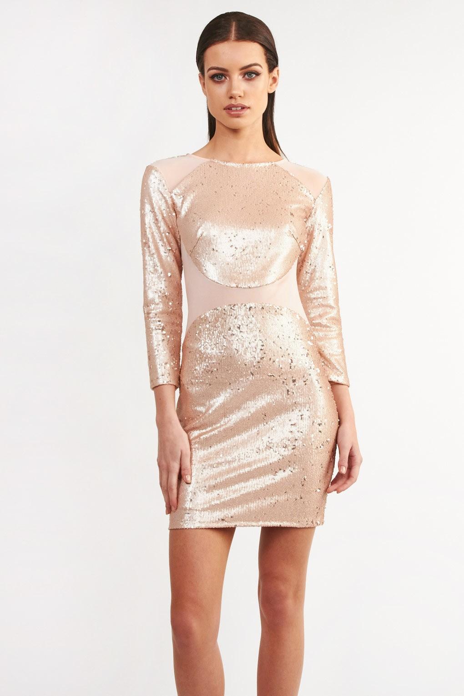 Tfnc Bizzie Pink Sequin Dress Tfnc Party Dresses