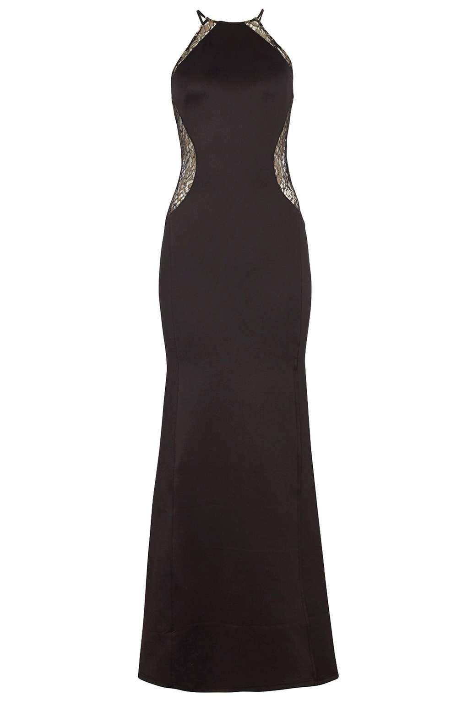 Tfnc black lace maxi dress