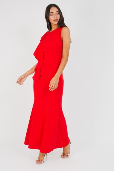 WalG Ruffle Red Maxi Dress
