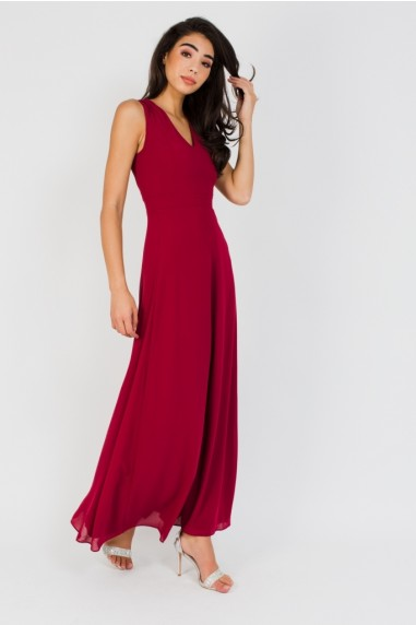 TFNC Candis Winter Wine Maxi Dress