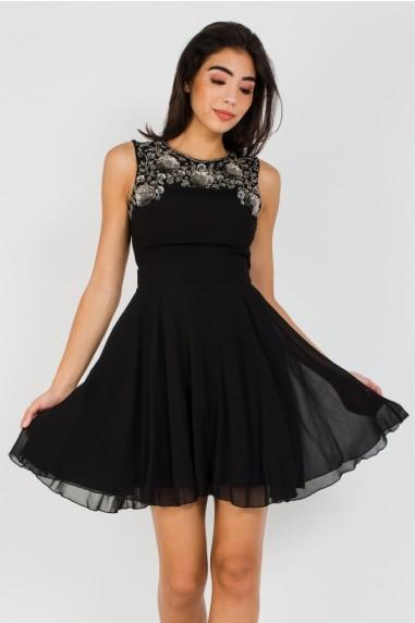 Lace & Beads Asha Black Mini Dress