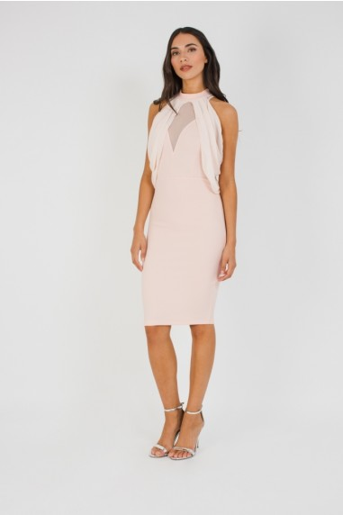 TFNC Elynn Pink Midi Dress
