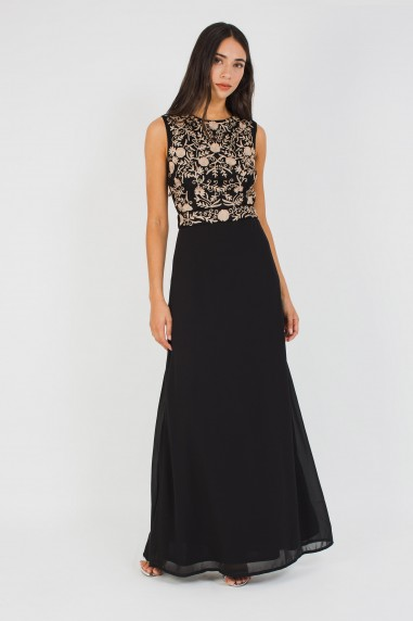 Lace & Beads Andora Black Maxi Dress