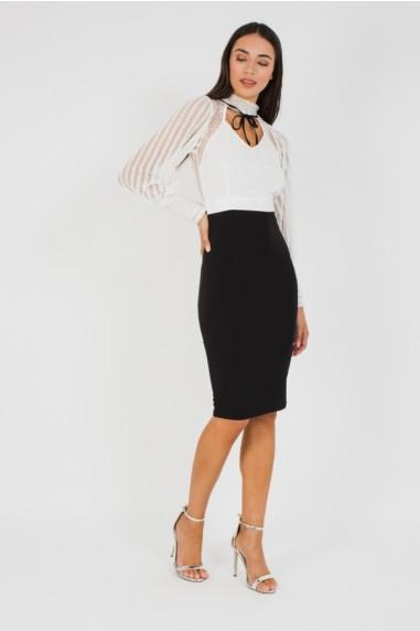 TFNC Adeline Midi Black Dress
