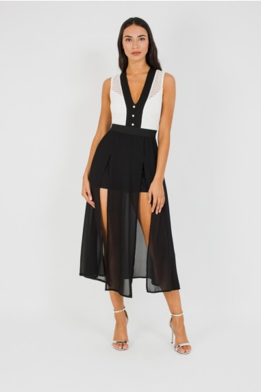 TFNC Calvina Black Midi Dress