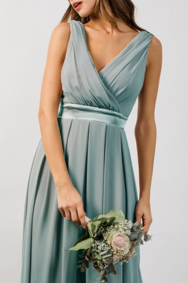 TFNC Kily Grey Blue Maxi Dress