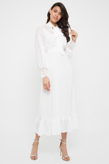 TFNC Yana White Maxi Dress