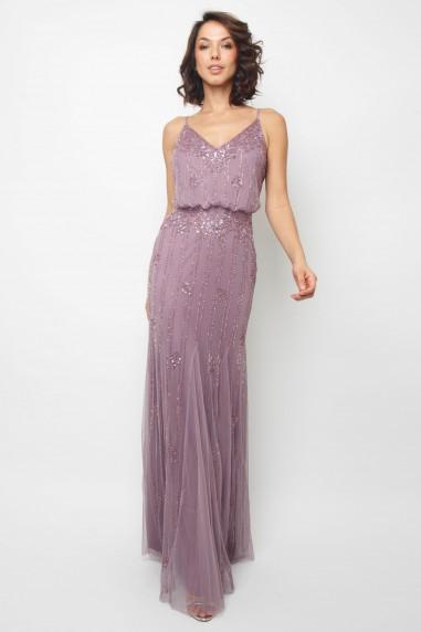 7e77b63a2031 Lace   Beads Keeva Purple Maxi Dress