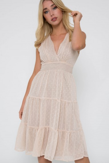 TFNC Roselina Nude Midi Dress