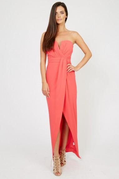 TFNC Layla Coral Midi Dress