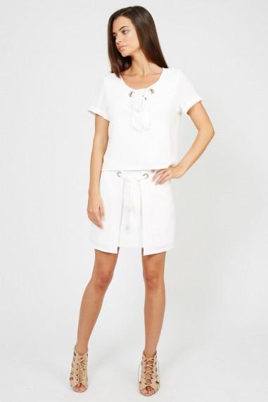TFNC Lyn White Mini Skirt
