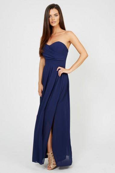 TFNC Elida Navy Chiffon Maxi Dress