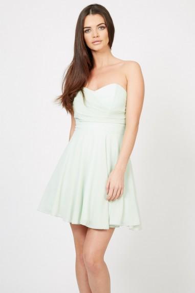 TFNC Minnie Mint Bandeau Dress