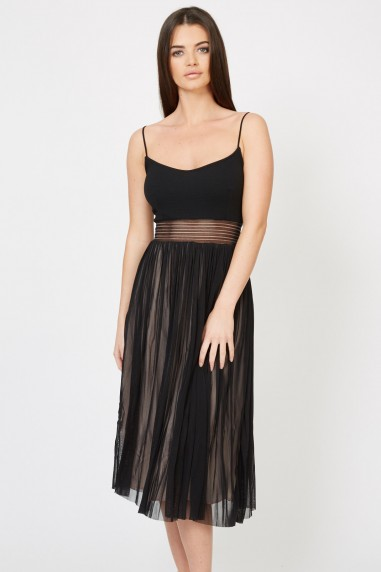 TFNC Elza Black Midi Dress