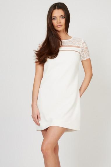TFNC Amber White Lace Detail Dress