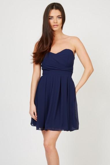 TFNC Elida Chiffon Navy Dress